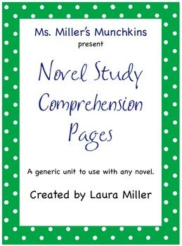 generic novel study for any novel pinterest novels language rh pinterest com Novel Study Cartoon any novel study guide pdf