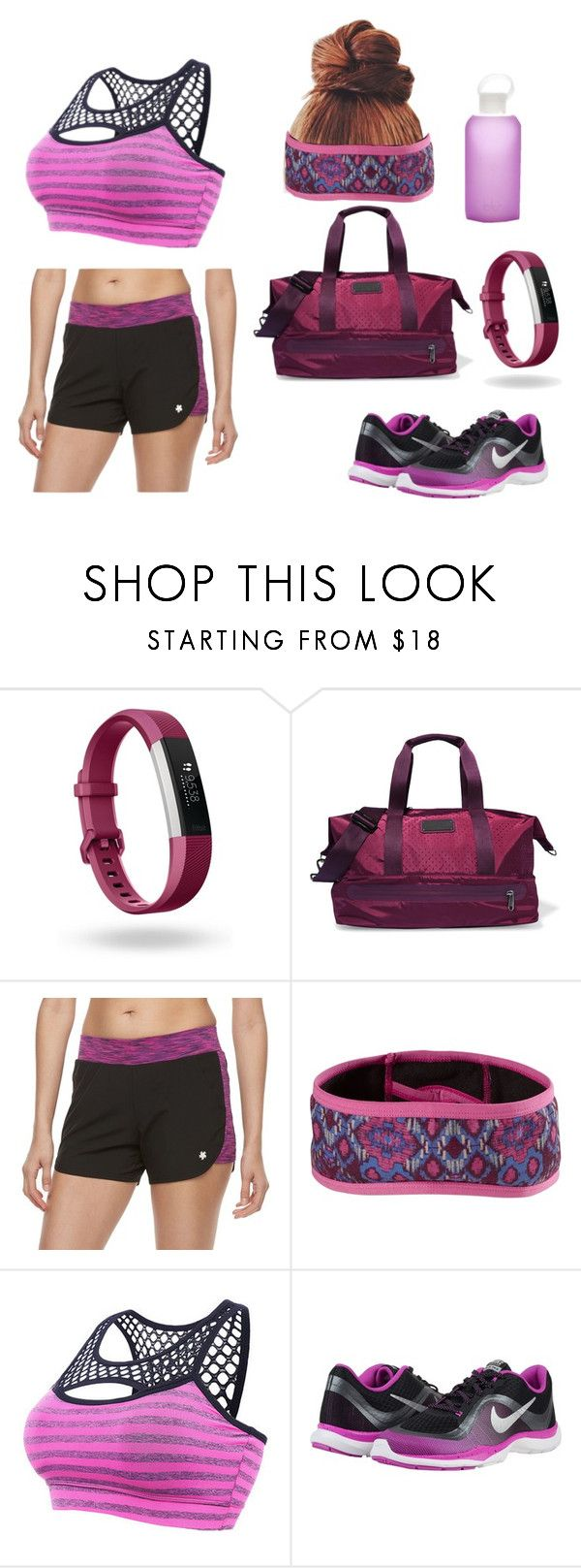 """""""Fitness test"""" by magicisinyourheart ❤ liked on Polyvore featuring Fitbit, adidas, Tek Gear, prAna and NIKE"""