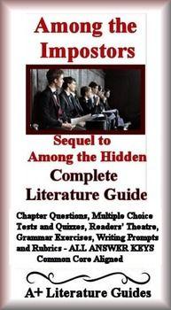 among the imposters novel study print and paperless among the rh pinterest com Among the Barons Among the Brave Trey