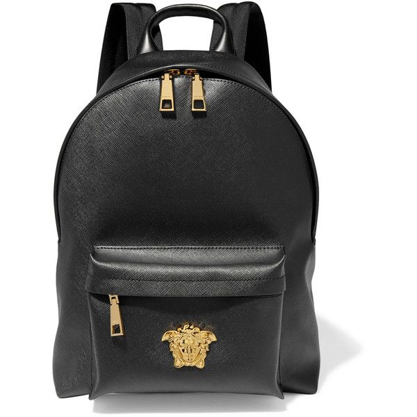 906033f3eaae Versace Palazzo brushed-PVC backpack ($1,145) ❤ liked on Polyvore ...