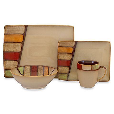 Sango Elements Brown 16-Piece Dinnerware Set - BBB - $70 ...