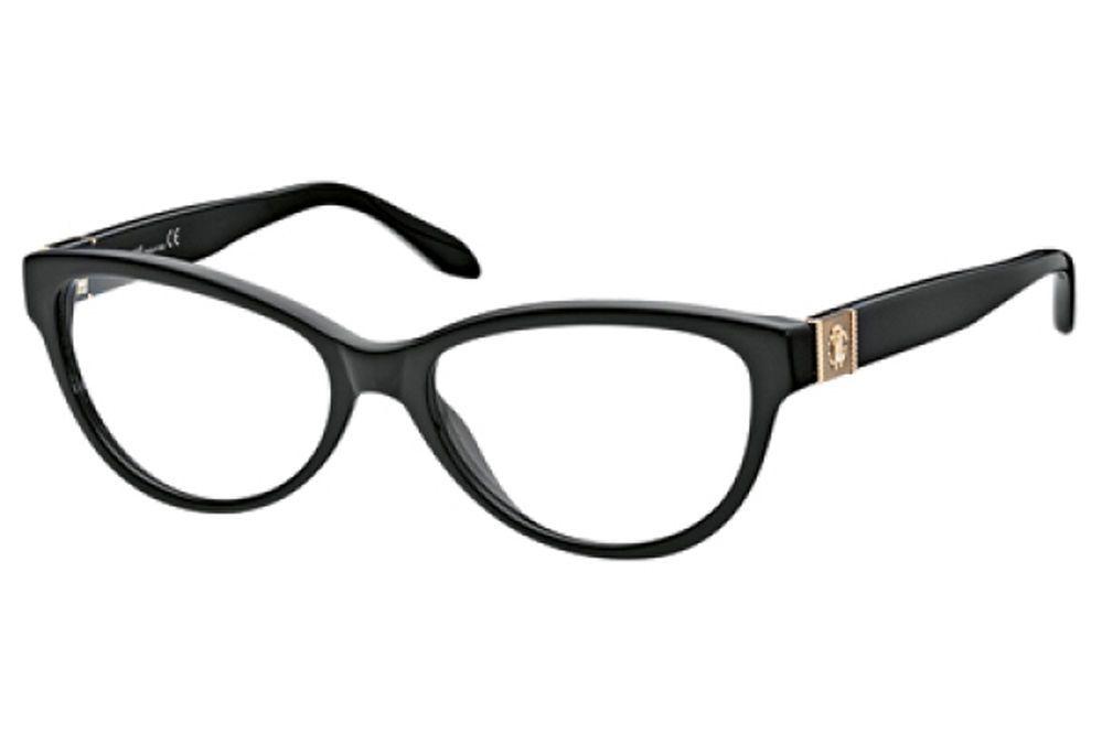 Roberto Cavalli RC0686 001 Womens Eyeglasses Black Cat Eye Optical ...