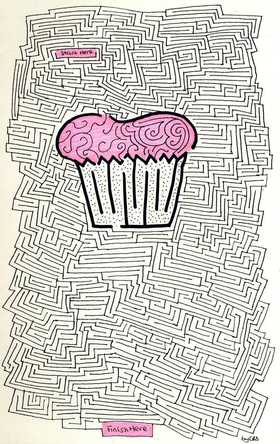 student work Maze drawing Blog