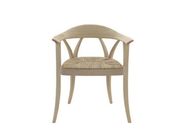 Sedia in legno massello con seduta in corda DONZELLA by DE PADOVA ...