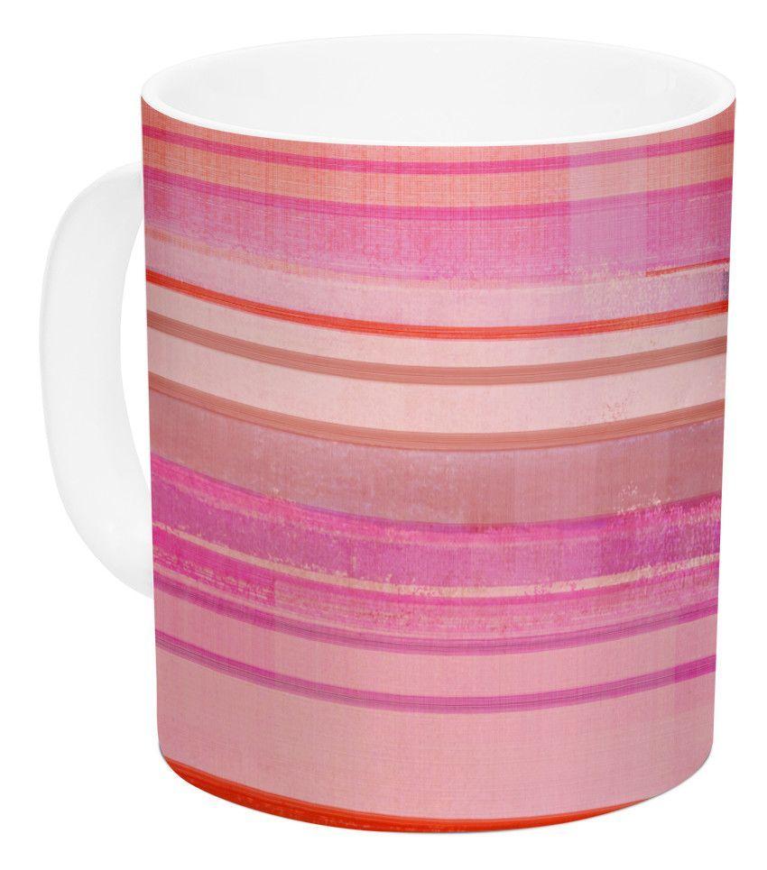Starwberry Shortcake by CarolLynn Tice 11 oz. Stripes Ceramic Coffee Mug