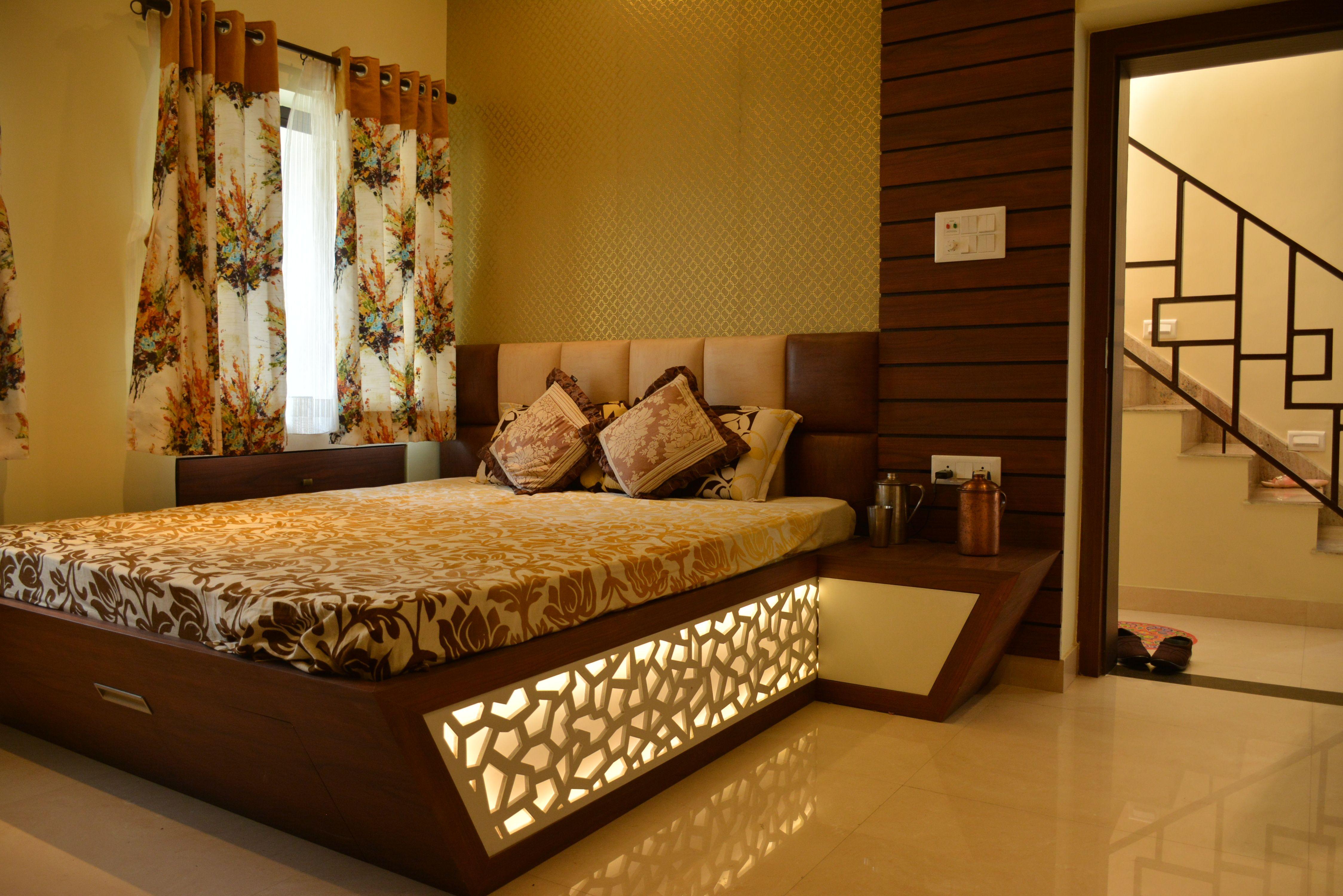 Jaali Design Bed
