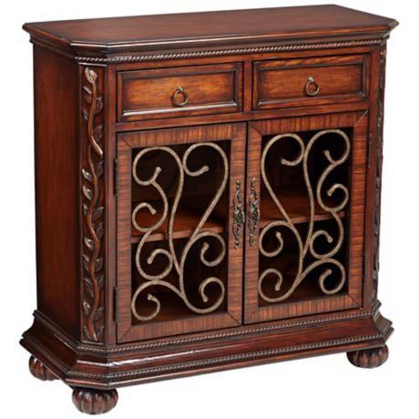 Arriana 35 High Dark Cherry Wood 2 Door Console W2877 Lamps Plus Cherry Wood Wood Console Wood