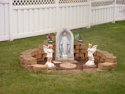 Cultural Catholicism Prayer Garden Virgin Mary Statue Garden Marian Garden