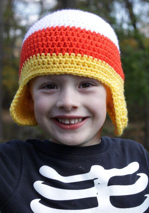 Free Crochet Candy Corn Hat Pattern. | Crochet hats | Pinterest ...