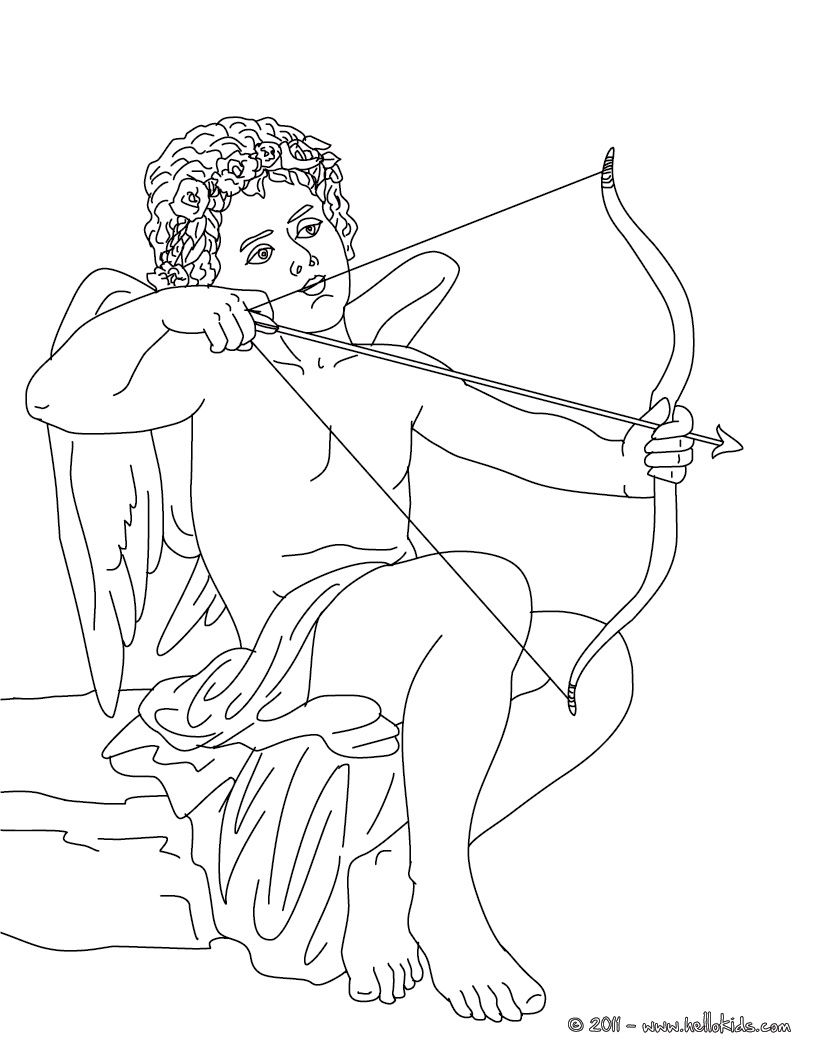 GREEK GODS coloring pages - EROS the greek god of love | Kleurplaat ...
