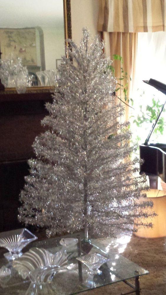 7 Revlis Starlite Aluminum Stainless Steel Silver Christmas Tree 205 Branch Silver Christmas Tree Christmas Tree Silver Christmas