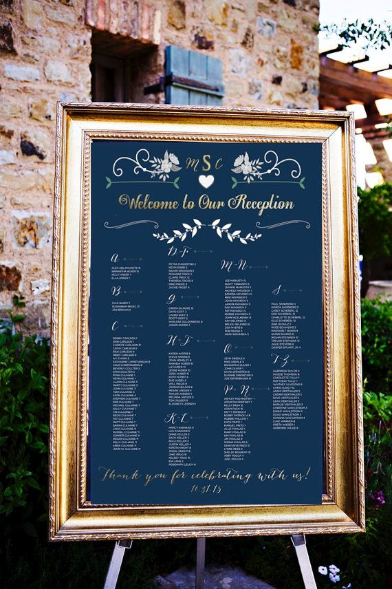Wedding Table Ignments Board Navy Background By Letsy