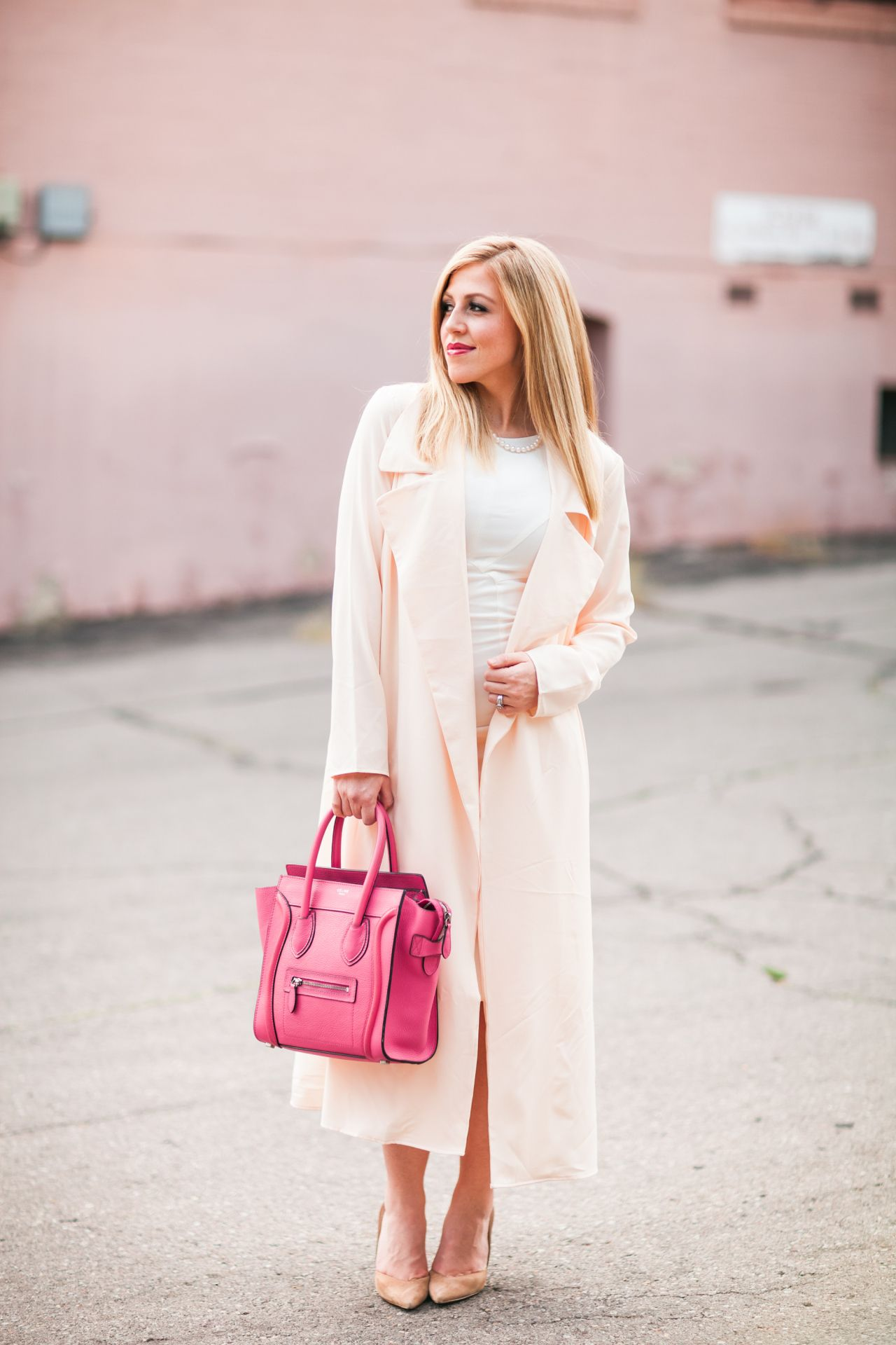 Beige Trench Coat + White Dress: Featuring Akira - Style Gala