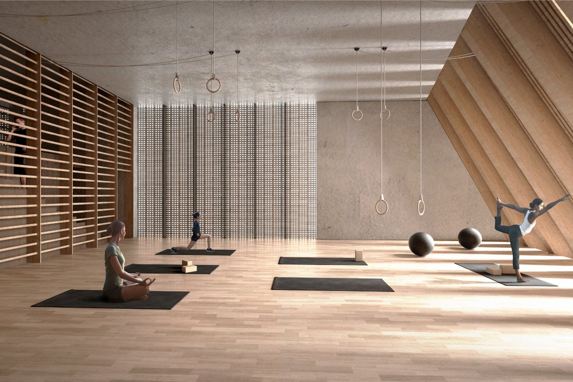 Pin By Alexlin On 健身房 In 2020 Gym Interior Yoga Studio Design Interior