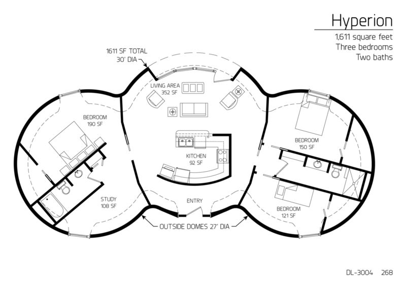 Cordwood Round House Floor Plan Yurts And Other Tiny