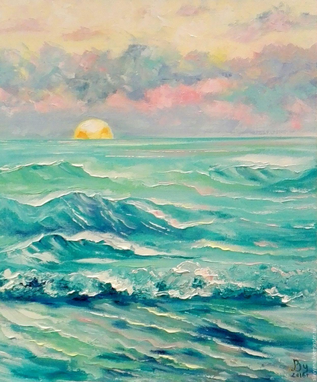Морской пейзаж рисунки акварелью