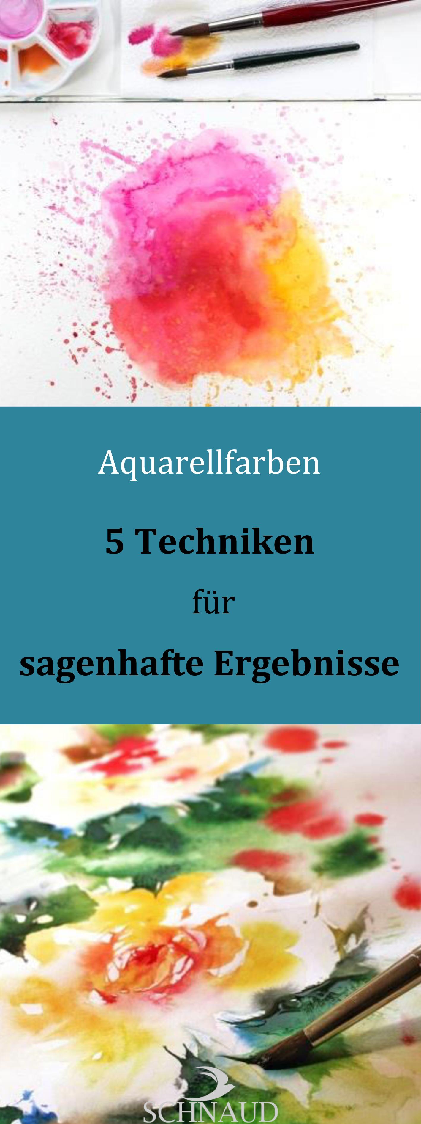 Mit diesen 5 Aquarelltechniken werden deine Gemälde sagenhaft!