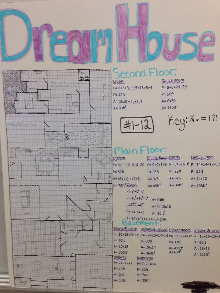 Every Year My 8th Grade Math Students Design Their Own Dream House  Great Way For Them To