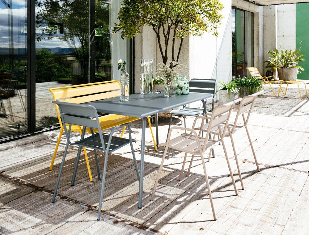 Fermob Monceau Niedriger Sessel 01 Baumwolle Gartenmobel Outdoor Tisch Sessel