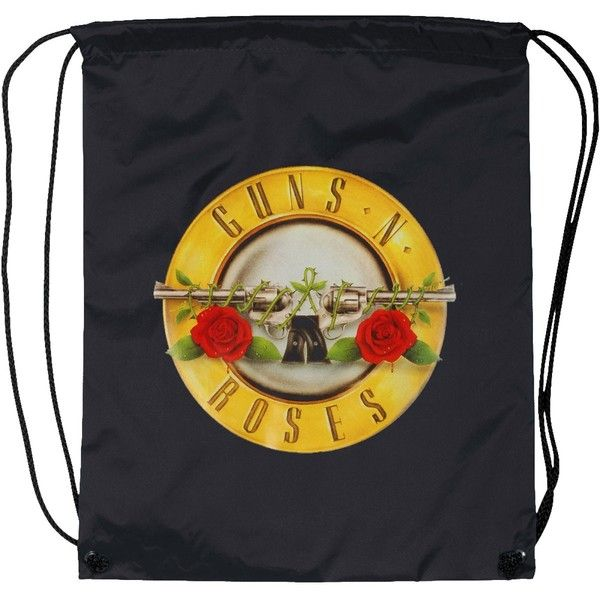 GUNS-N-ROSES-DRAWSTRING-BACKPACK-207280F.JPG (1200×1200) ❤ liked on Polyvore featuring bags and backpacks