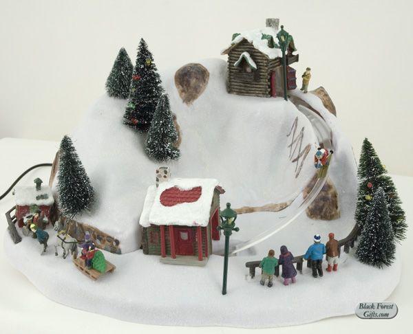 Winter Wonderland Ski Jump Music Box