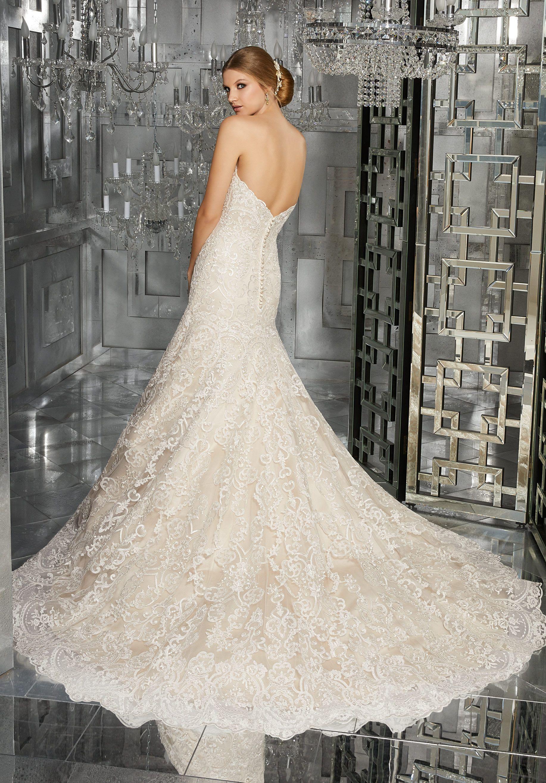 Color embroidered wedding dress  Monroe Wedding Dress  Mori Lee  Pinterest  Wedding dresses