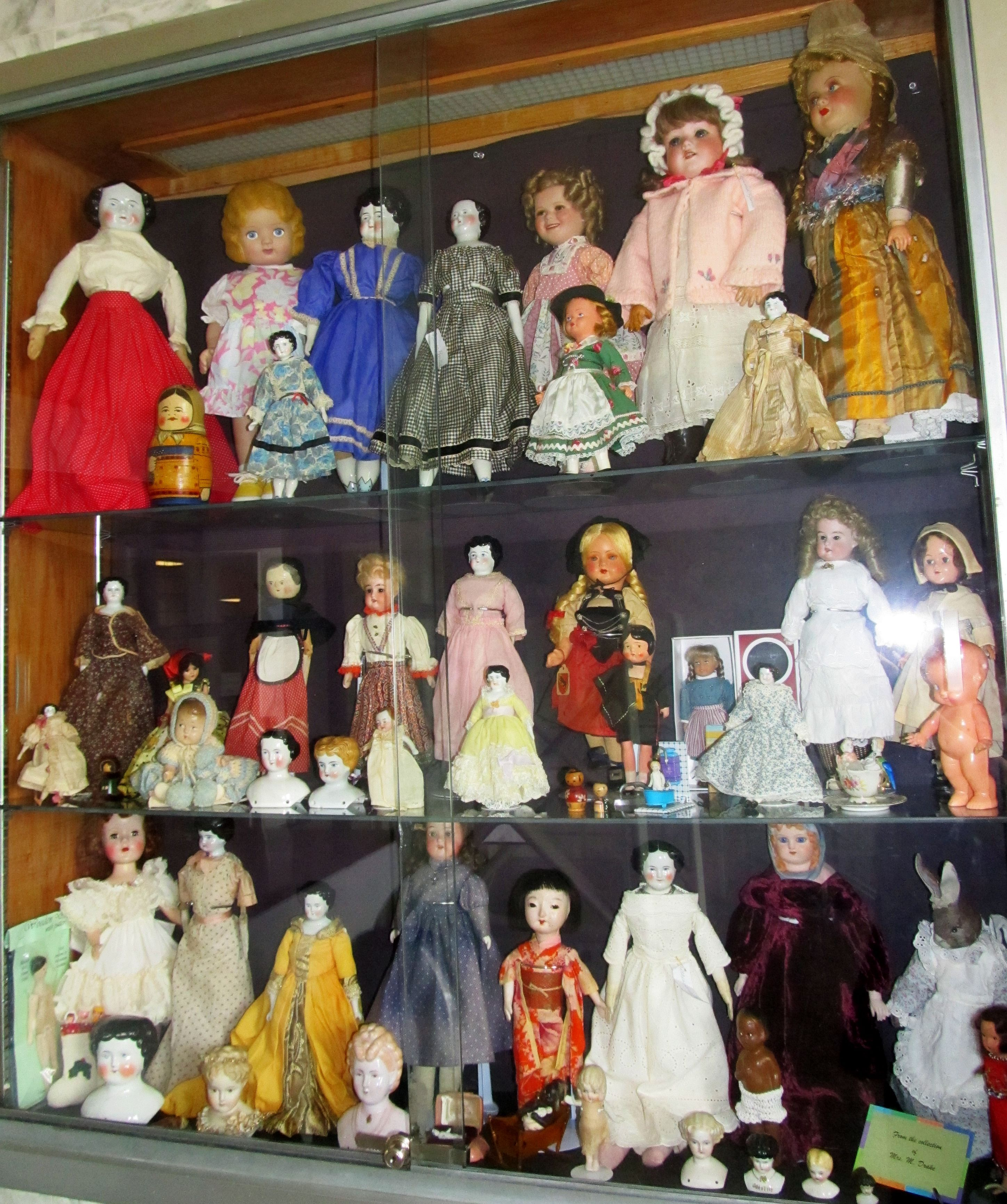 Antique, Vintage and Collectible Dolls from my collection...May 2013 Library Exhibit
