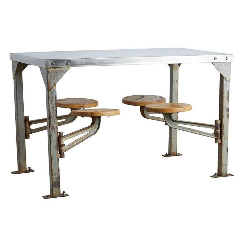 Industrial Swing Arm Mess Hall Table With Polished Top Circa 1940s From A Unique Collection Of Ant Furniture Vintage Furniture For Sale Vintage Dining Table