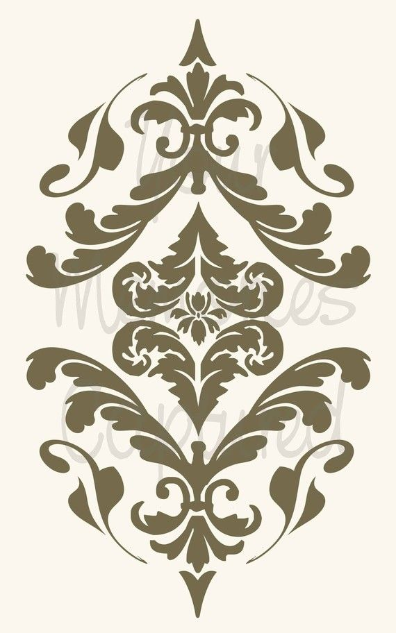 French Damask Flourish D Reusable Stencil By YourMemoriesCaptured 1200