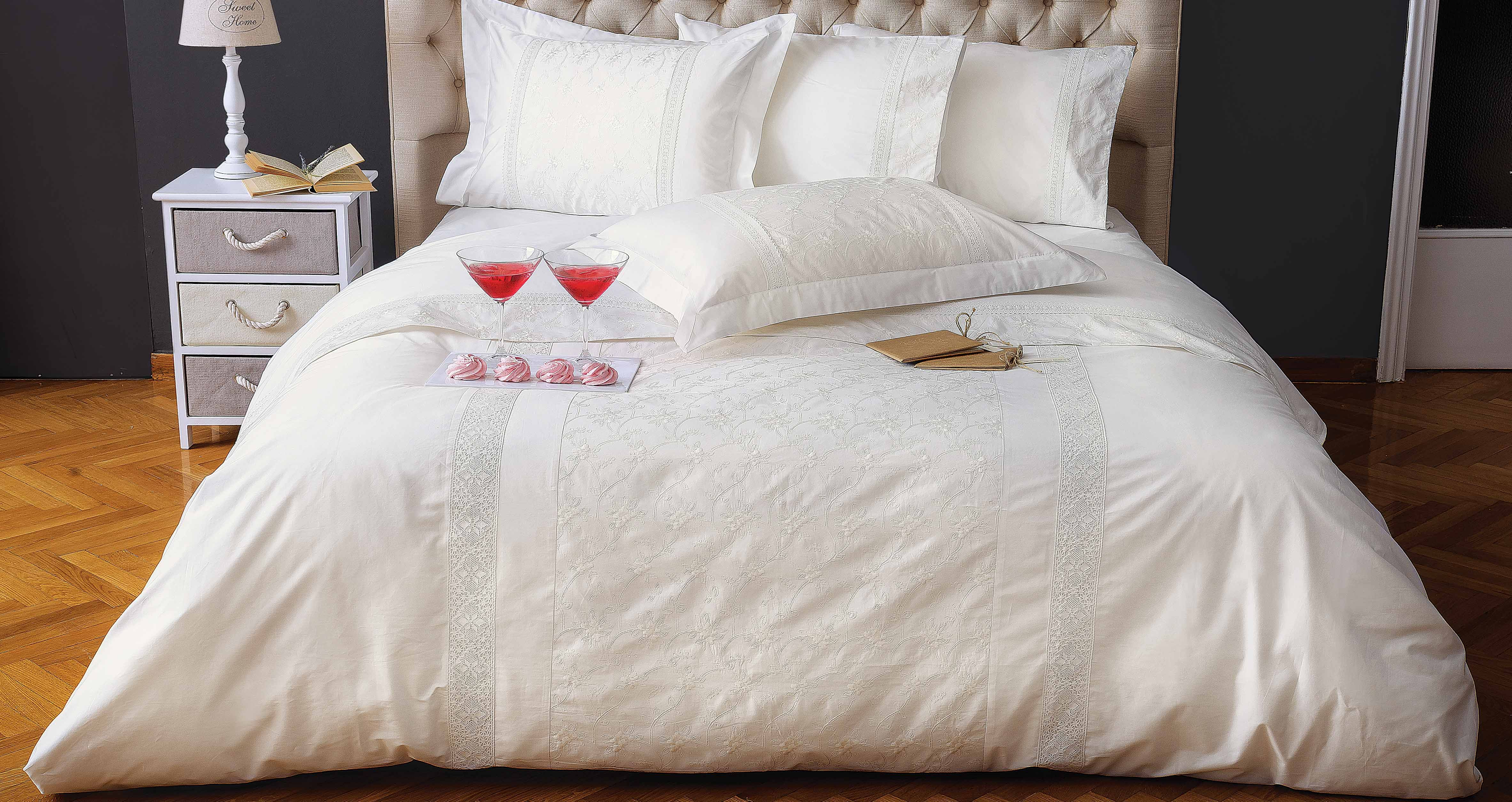 Delight in the beauty of white with Cornelia linens. Find out their ...
