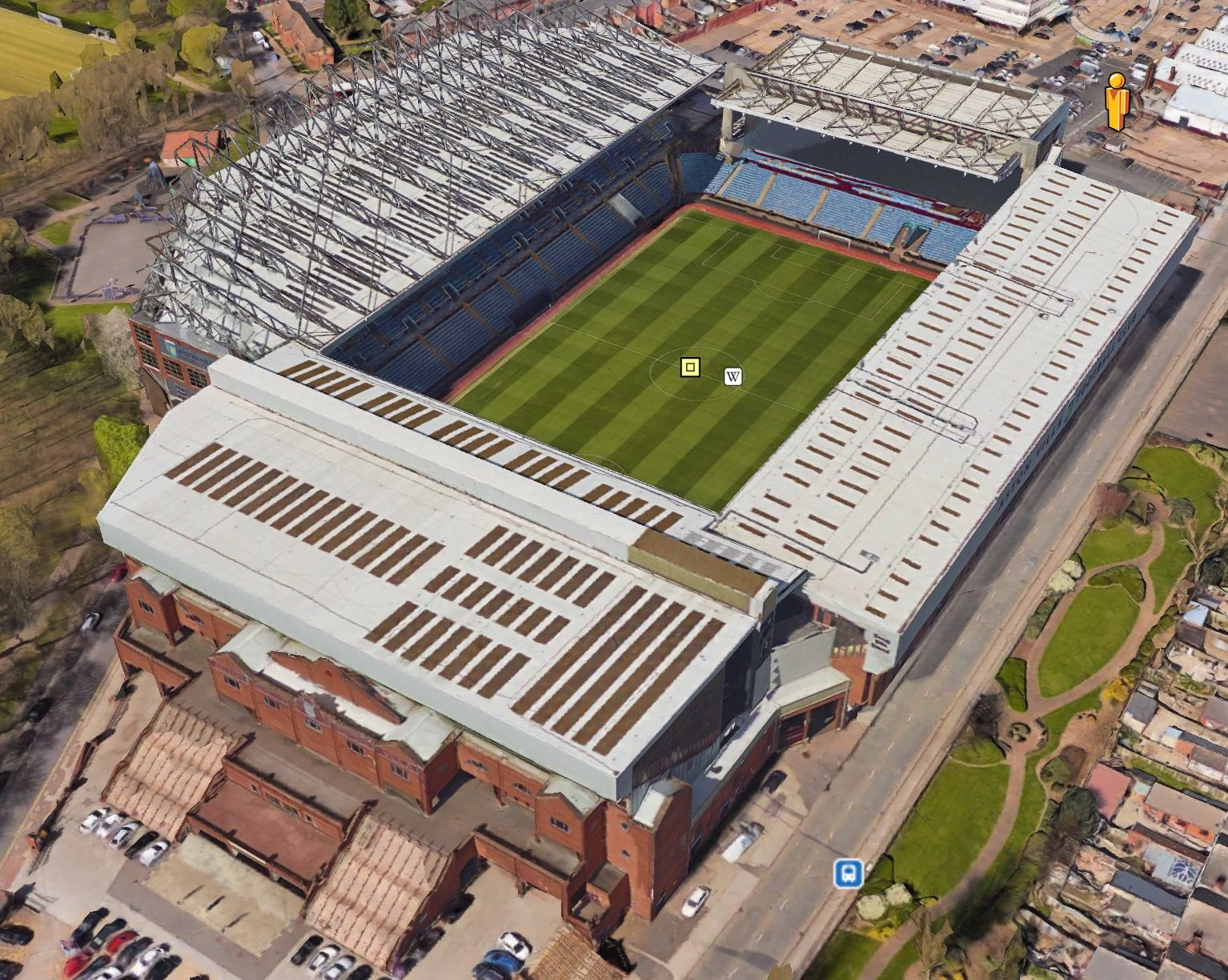 Pin on Stadiums in the UK using Google Earth
