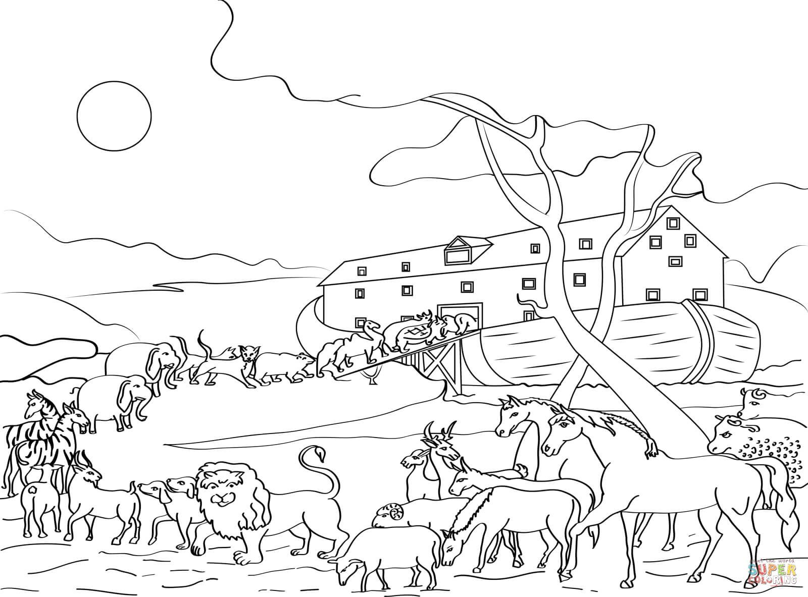 Animals Loading Noah S Ark Coloring Page Free Printable Coloring Animal Coloring Pages Family Coloring Pages Online Coloring Pages