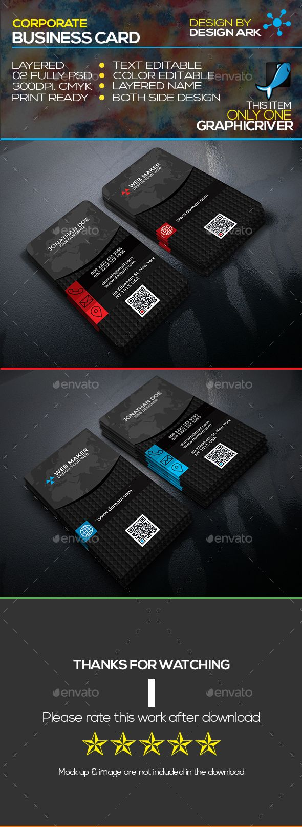 Creative Business Card - Business Cards Print Templates Download here: https://graphicriver.net/item/creative-business-card/20137916?ref=classicdesignp