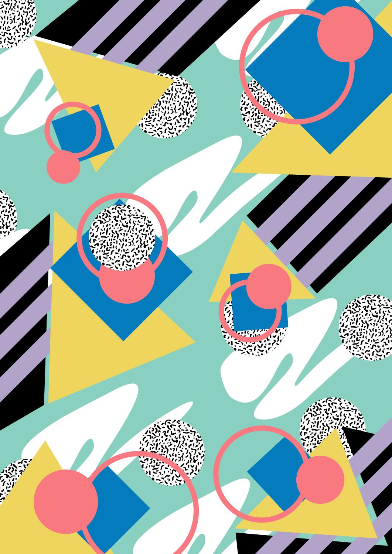 memphis design pattern paint