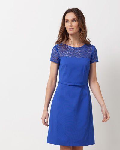 Robe bleu roi fluide