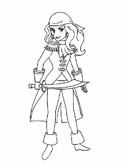 Hand Drawn Pirate Girl Download At Merry Printables For Free Pdf