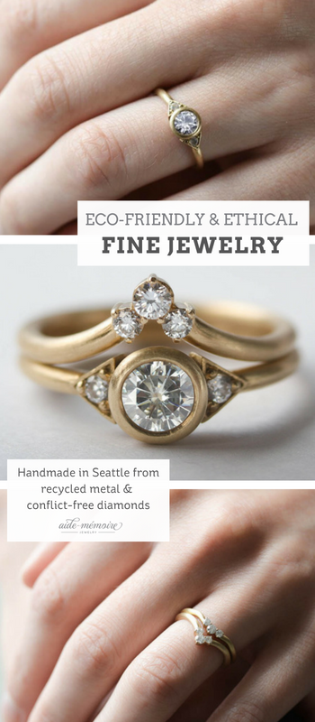 8a301b11f0533 Deco Three Stone Ring in 2019   Aide-Mémoire Jewelry: Eco-friendly ...