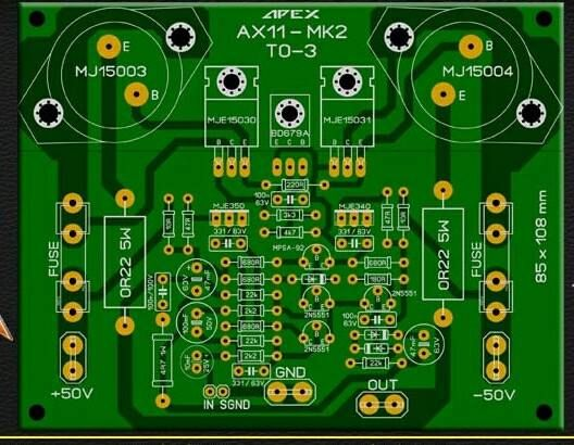 pcb power apex ax11 mk2 layout pcb 39 s layout design. Black Bedroom Furniture Sets. Home Design Ideas