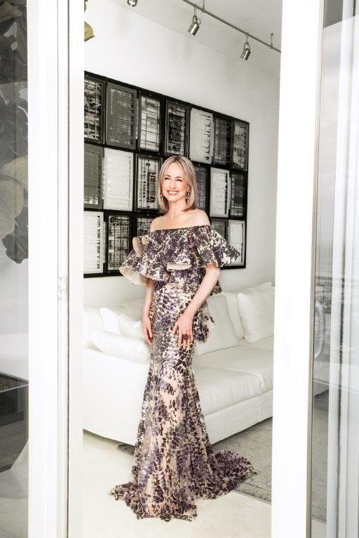 Silvia Tcherassi Atelier Off The Shoulder Sequins Gown