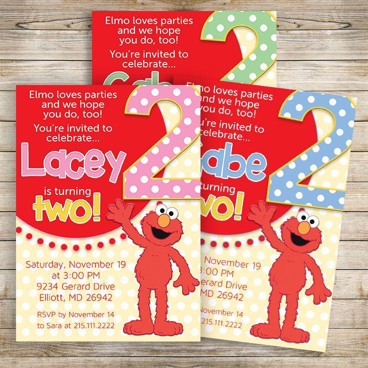 Elmo Birthday Invitation Sesame Street Elmo Girl