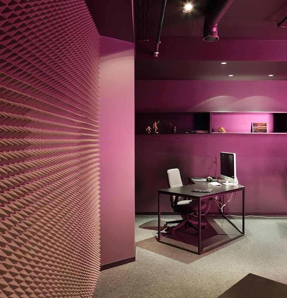 office interior colors. Sweet Magenta Wall Color For Modern Office Interior What Are The Best Colors A