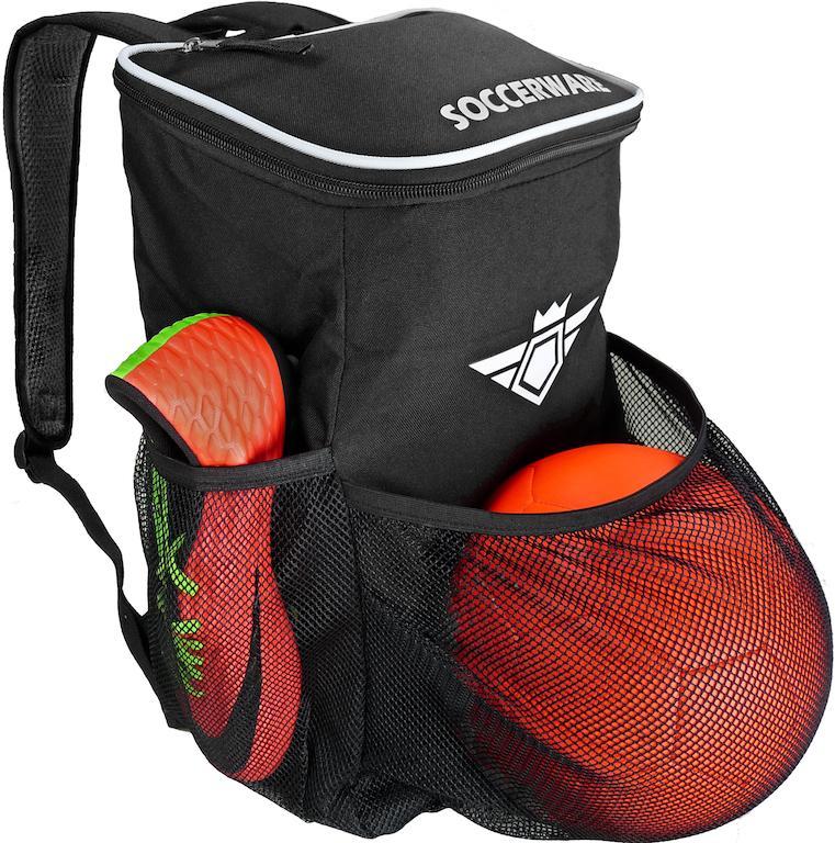Soccerware Backpack Black Soccer backpack