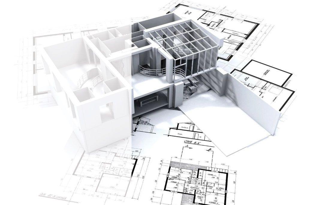 Carte De Visite Construction Batiment Architecte Fond Plan