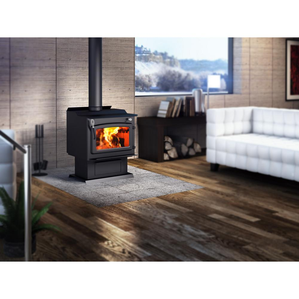 Century Fw3000 25 In Wood Stove 2000 Sq Ft With Blower Epa Certified Cb00014 The Home Depot Wood Stove Indoor Wood Stove Freestanding Fireplace