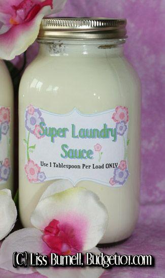 Super Laundry Sauce For Dummies Laundry Detergent Recipe