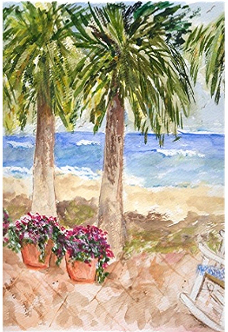 ON THE BEACH - Watercolor by Judy Underwood