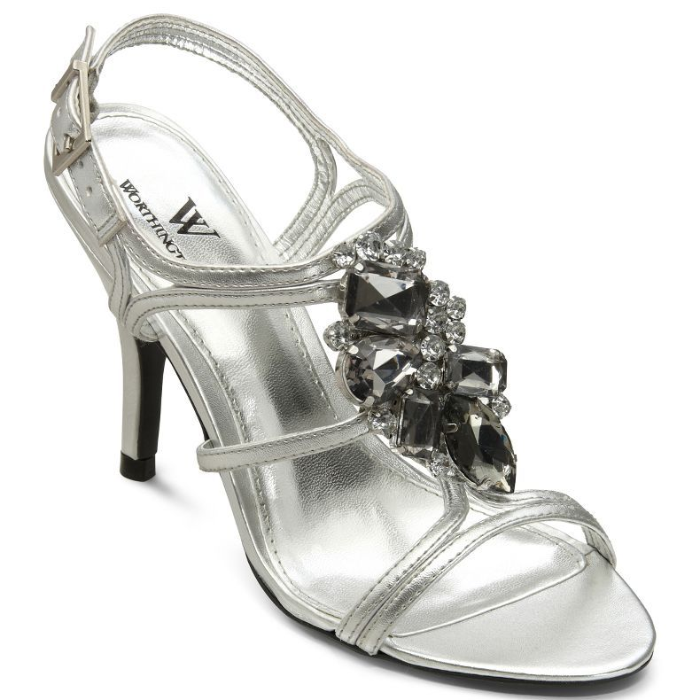 386d3714dfb2 jcpenney - Worthington® Francine Embellished Metallic Formal Sandals -  jcpenney  14.99 Silver Wedding Shoes