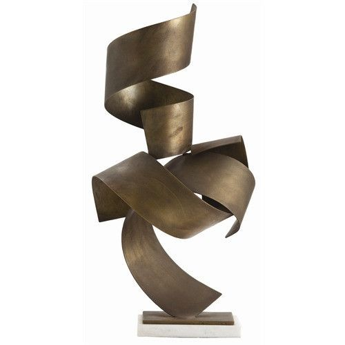 Arteriors Home 3125   Wide Curling Brass Ribbons In A Bronze Finish Come  Together To Create