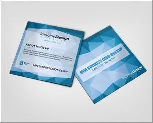 With This Professional Mini Business Card Mockup You Can Showcase - Mini business card template