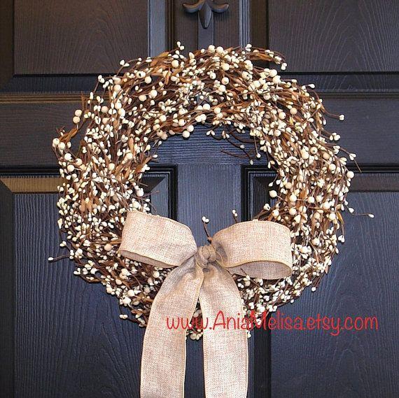 pip berry Christmas wreath spring wreaths berries outdoor wreath wedding wreaths front door wreaths decor spring wreaths